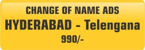 Change of name ads in hyderabad