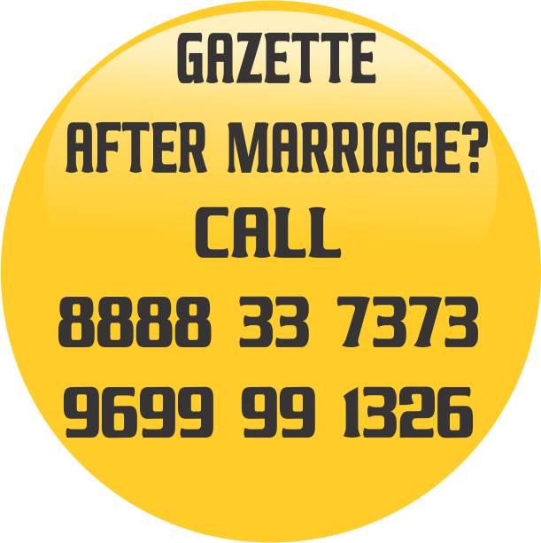 NAME CHANGE GAZETTE AFTER MARRIAGE IN MAHARASHTRA