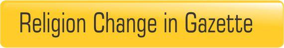 Religion change in gazette publication