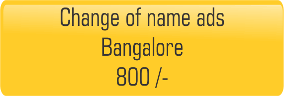 change of name in Bangalore